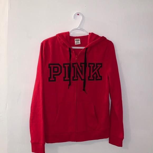 VS Pink Logo Zip-up Hoodie